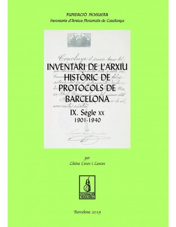 Inventari de l'Arxiu Històric de Protocols de Barcelona IX