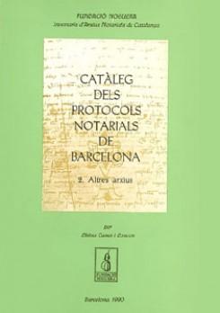 Catàleg dels protocols notarials de Barcelona