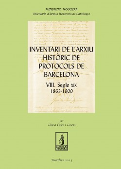 Inventari de l'arxiu històric de protocols de Barcelona VIII