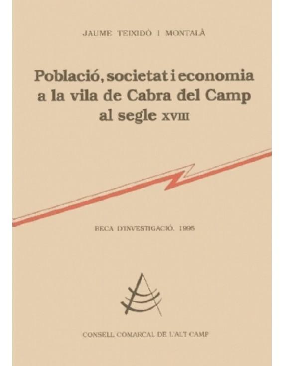 Població, societat i economia a la vila de Cabra del Camp al segle XVIII