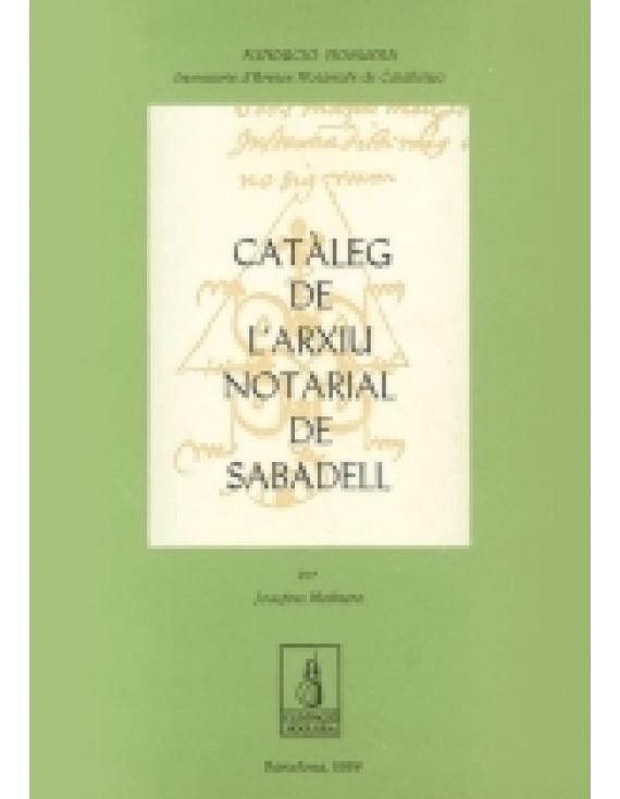 Catàleg de l'Arxiu Notarial de Sabadell