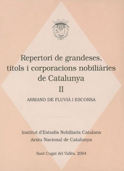Repertori de grandeses, títols i corporacions nobiliàries de Catalunya, II