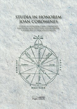 Studia in honorem Joan Coromines