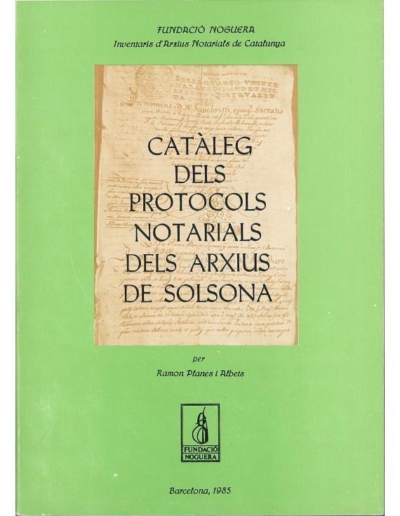 Catàleg dels protocols notarials dels arxius de Solsona