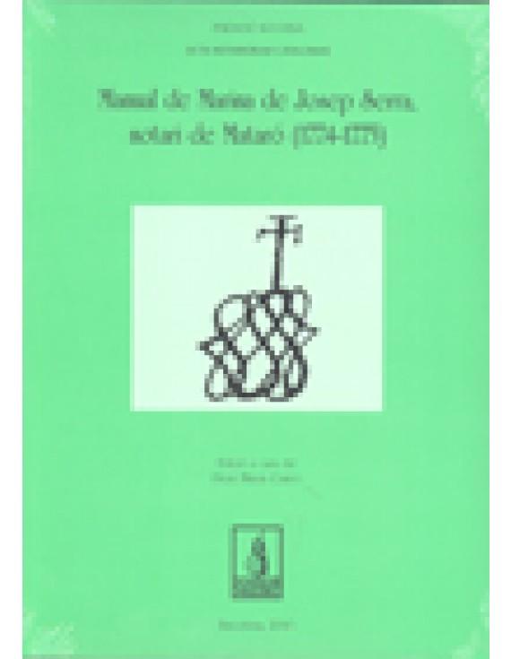 Manual de Marina de Josep Serra, Notari de Mataró (1774-1775)