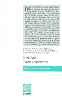 Sintaxi: teoria i perspectives