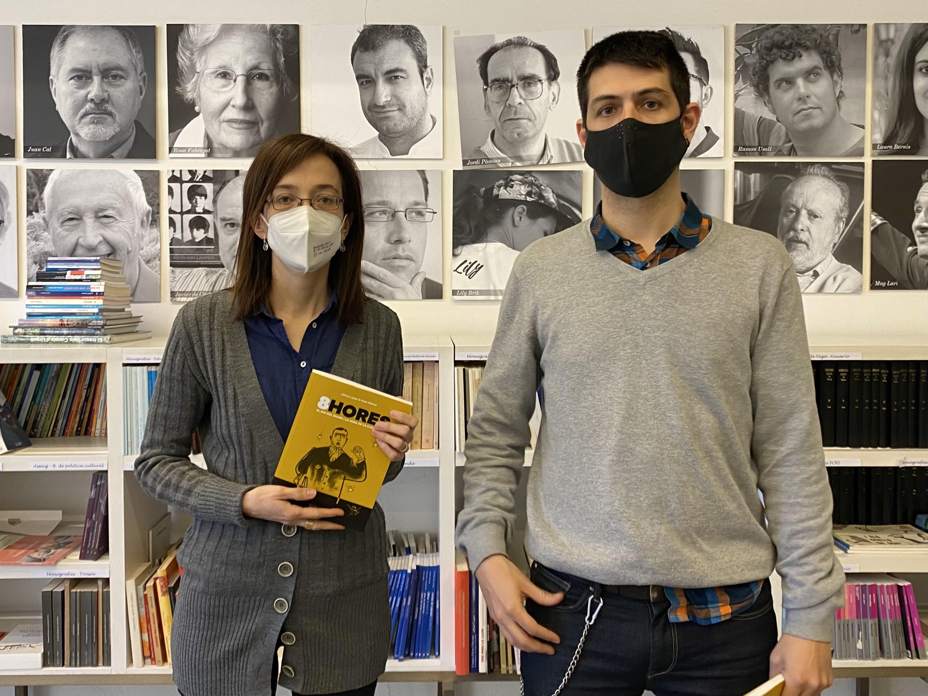 Pagès Editors presenta la seva nova col·lecció de novel·la gràfica, Doble Tinta, i el primer títol, 8HORES