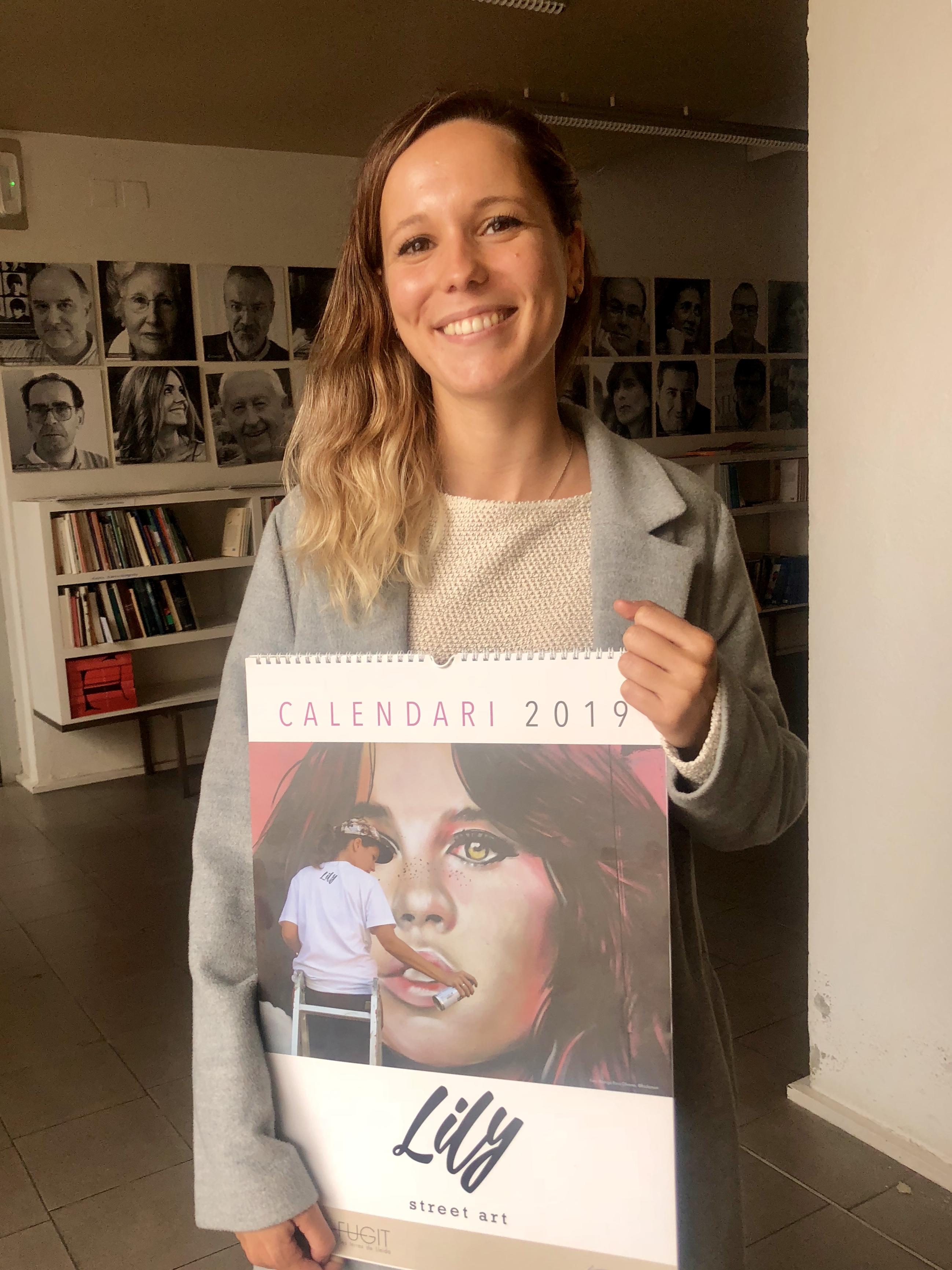 L'artista lleidatana Lily Brik és la protagonista del calendari de 2019 de Pagès Editors