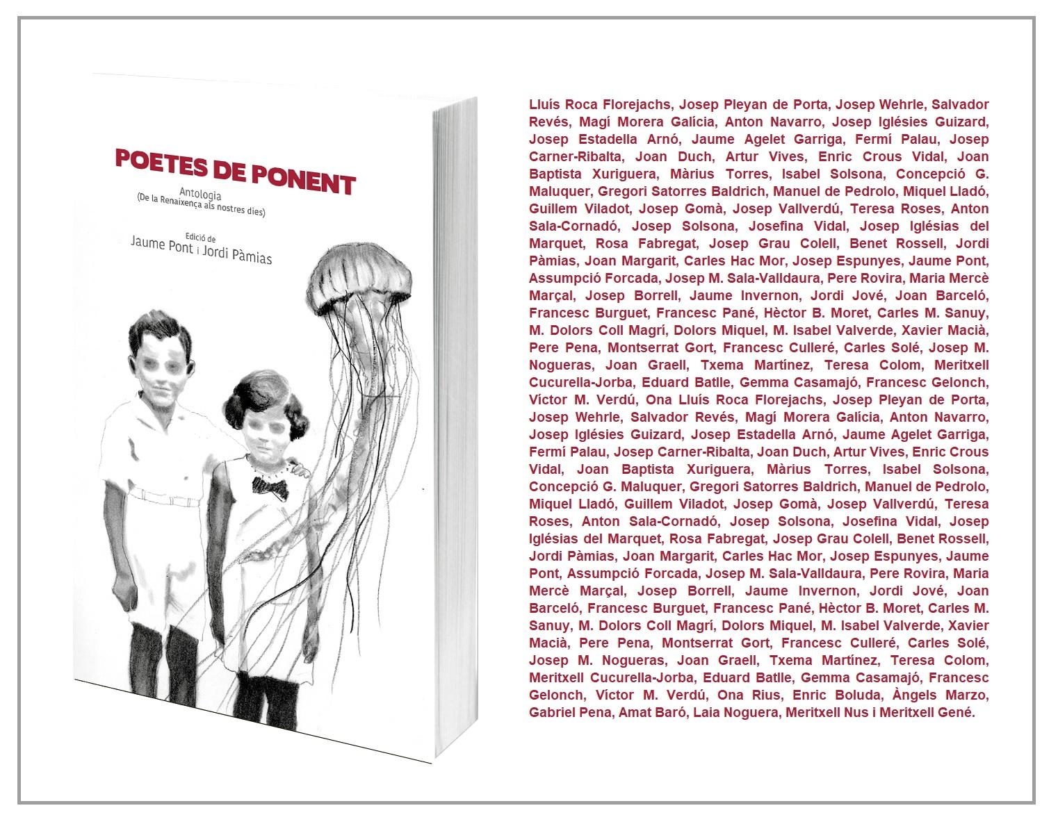 L'IEI i Pagès Editors coediten l'antologia 'Poetes de Ponent'