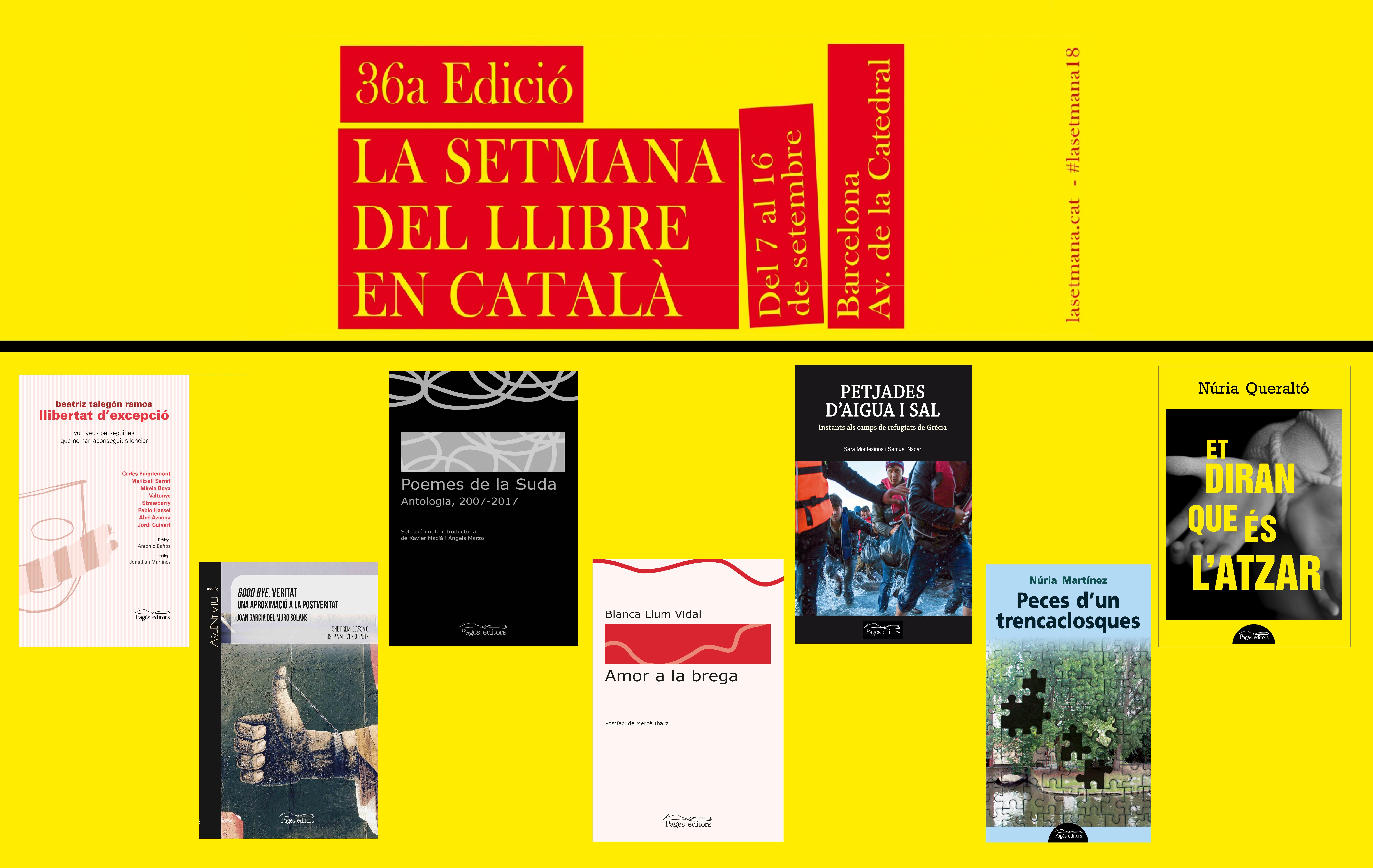 Pagès Editors participa un any més en la Setmana del Llibre en Català
